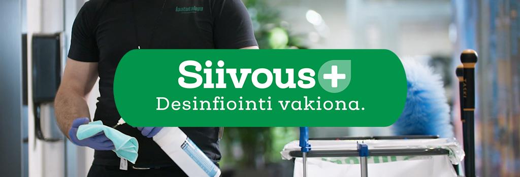 Tarjoamme tehokkaan ja huolettoman Siivous+ toimistosiivouksen yrityksille. Desifiointi vakiona.